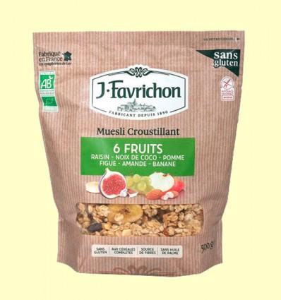 Muesli Crunchy 6 Frutas - Favrichon - 500 gramos