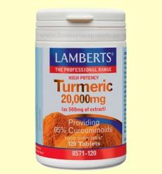 Turmeric - Cúrcuma 20.000 mg - Lamberts - 120 tabletas