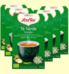 Té Verde Energía Bio- Yogi Tea - Pack 6 x 17 infusiones