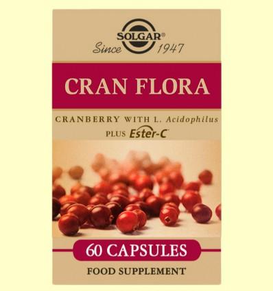 Cran Flora con Probióticos - Solgar - 60 cápsulas