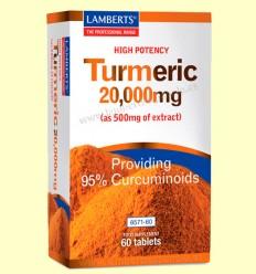 Turmeric - Cúrcuma 20.000 mg - Lamberts - 60 tabletas