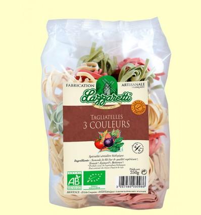 Tallarines de 3 Colores con Verduras Bio - Lazzaretti - 250 gramos