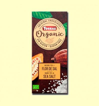 Chocolate Negro 70% con Flor de Sal Bio - Torras - 100 gramos