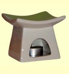 Quemador en forma de Pagoda de cerámica para aceites esenciales - Sigris