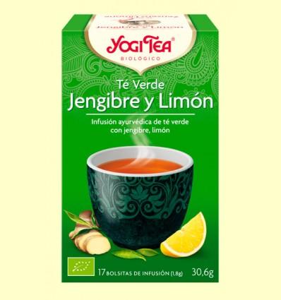 Té Verde Jengibre y Limón Bio - Yogi Tea - 17 infusiones