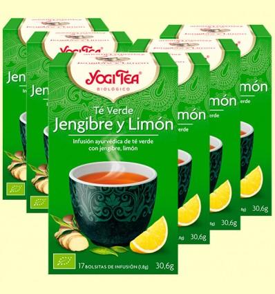 Té Verde Jengibre y Limón Bio - Yogi Tea - Pack 6 x 17 infusiones