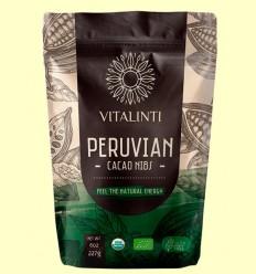 Cacao Nibs - Cacao en Trozos Bio - Vitalinti - 227 gramos
