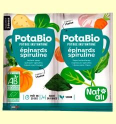 Potabio Espinacas y Spirulina Bio - Caldos y potajes - Nat Ali - 2 x 8,5 gramos