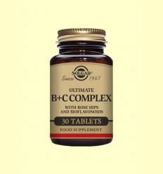 Ultimate B+C Complex - Solgar - 30 comprimidos