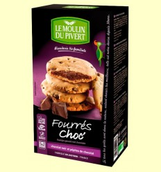 Cookies Rellenas de Chocolate Bio - Le Moulin du Pivert - 175 gramos