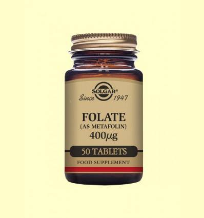 Folato Metafolin® 400 µg - Solgar - 50 cápsulas