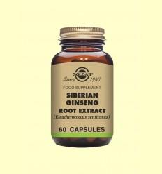 Ginseng Siberiano Extracto de Raíz - Solgar - 60 cápsulas vegetales