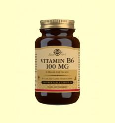 Vitamina B6 100 mg - Solgar - 100 cápsulas vegetales