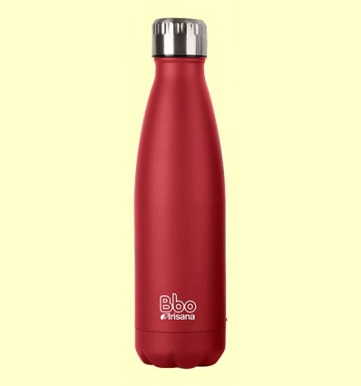 Termo Acero Inoxidable Neopreno Rojo - Grupo Irisana - 500 ml