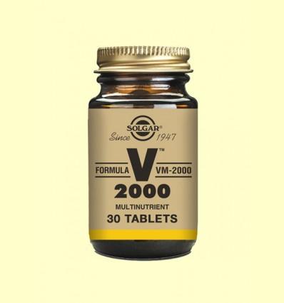 Fórmula VM-2000 - Fórmula Multinutriente - Solgar - 30 comprimidos *
