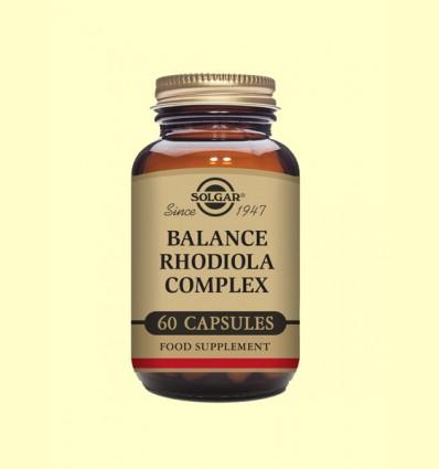 Balance Rhodiola Complex - Mutinutriente y herbal - Solgar - 60 cápsulas