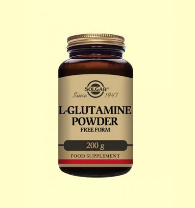 L-Glutamina en polvo - Solgar - 200 gramos