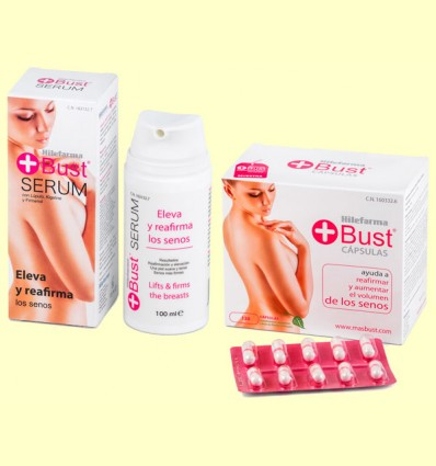 Senos Perfectos - Hilefarma, Pack + Bust Sérum + Bust Cápsulas