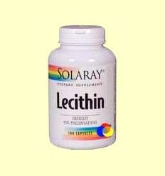 Lecithin Oil Free - Lecitina de Soja - Solaray - 100 cápsulas