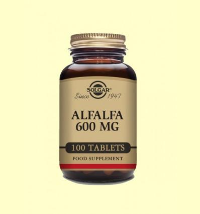 Alfalfa 600 mg - Solgar - 100 comprimidos