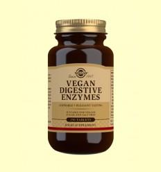 Vegan Enzimas Digestivas - Ayudas digestivas - Solgar - 250 comprimidos
