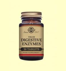 Vegan Enzimas Digestivas - Ayudas digestivas - Solgar - 50 comprimidos