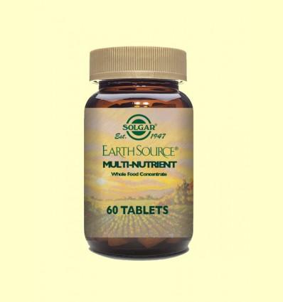 Earth Source - Multinutriente con base nutritiva - Solgar - 60 comprimidos