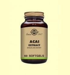 Acaí Extracto de Baya de Brasil - Solgar - 60 cápsulas blandas *