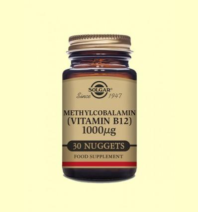 Metilcobalamina - Vitamina B12 1000 μg - Solgar - 30 comprimidos masticables