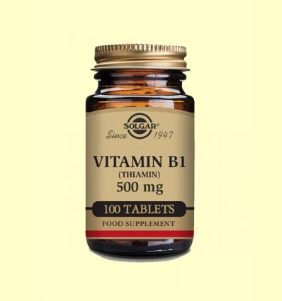 Vitamina B1 500 mg (Tiamina) - Solgar - 100 comp.