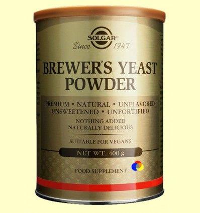 Levadura de cerveza en polvo - Solgar - 400 gramos ******