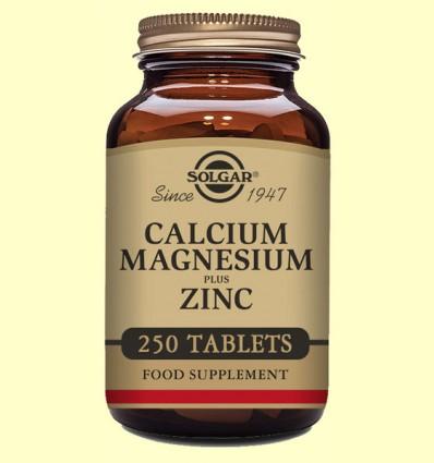 Calcio - Magnesio - Zinc - Solgar - 250 comprimidos