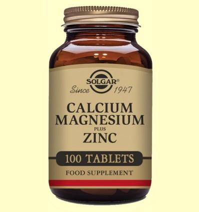Calcio - Magnesio - Zinc - Solgar - 100 comprimidos