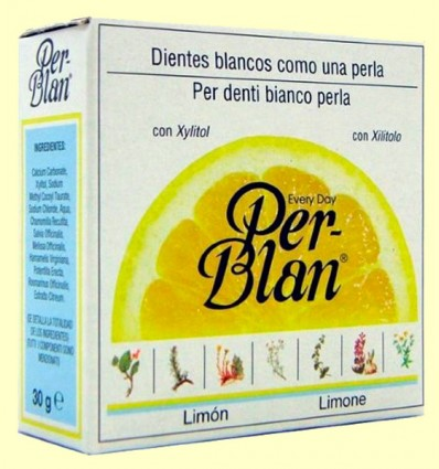 Dentífrico en Polvo Limón - Perblan - 30 gramos