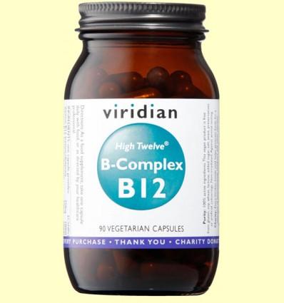 High Twelve Vitamin B12 con B-Complex - Viridian - 90 Cápsulas