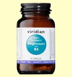 Magnesio de Alta Potencia con B6 - Viridian - 30 Cápsulas
