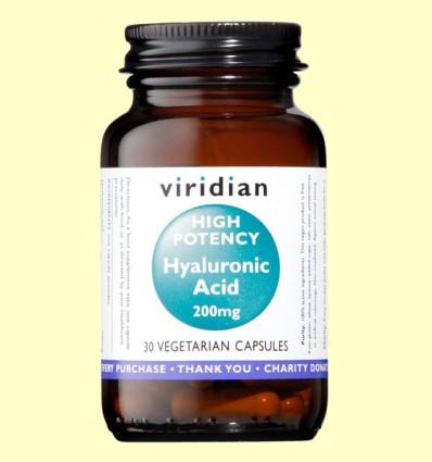 Ácido Hialuronico - Viridian - 30 Cápsulas