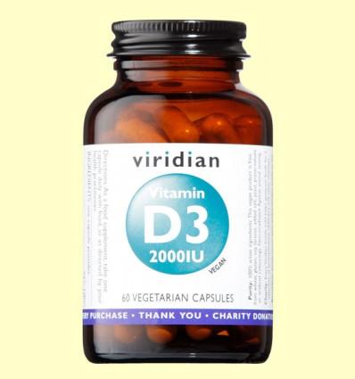 Vitamina D3 Vegana 2000ui - Viridian - 60 Cápsulas