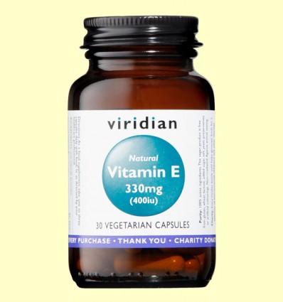 Vitamina E Natural 400iu - Viridian - 30 Cápsulas
