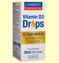 Vitamina D3 Gotas - Lamberts - 20 ml
