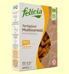 Tortiglioni Multicereales Bio - Felicia - 340 gramos