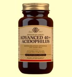 40 + Acidophilus Avanzado - Solgar - 60 cápsulas vegetales