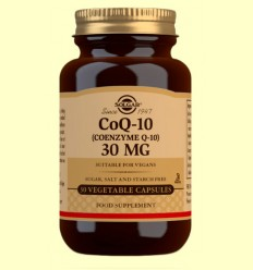 Coenzima Q-10 30 mg - Solgar - 30 cápsulas vegetales