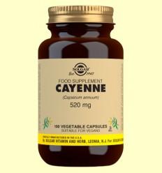 Cayena 520 mg - Solgar - 100 cápsulas vegetales