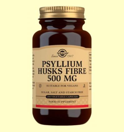 Fibra de Cáscara de Psyllium 500 mg - Fibra - Solgar - 200 cápsulas