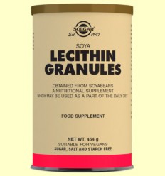 Lecitina de Soja Gránulos - Soja Natural - Solgar - 454 gramos