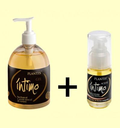 Pack Gel Íntimo + Aceite Íntimo - Plantis - 30 ml + 500 ml