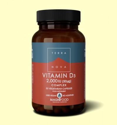 Vitamina D3 2000 UI - Terra Nova - 50 cápsulas
