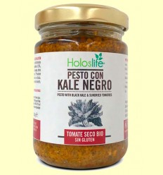 Pesto Kale Negro y Tomate Seco Bio - Holoslife - 130 gramos