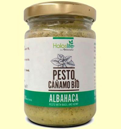 Pesto Cáñamo con Albahaca Bio - Holoslife - 130 gramos